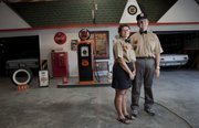Rowan and Tanya Green built a 1930s-style gas station inside their garage.