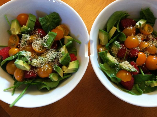 Creamy and Sweet Summer Salad for two.