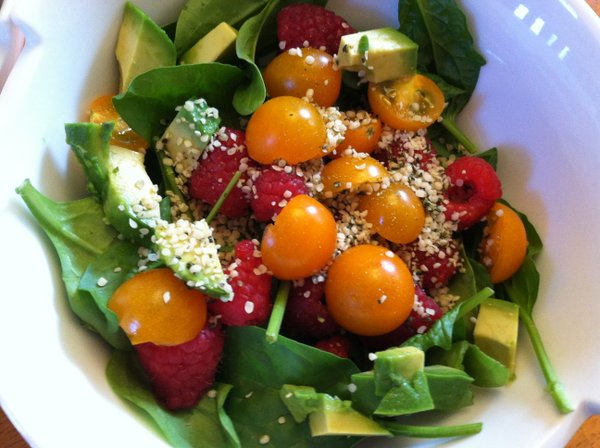 A healthy salad: Devoid of anything fake, but full of lots of good fat.