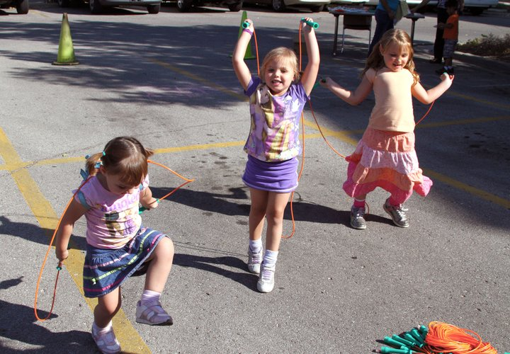 This trio played jump rope during last year's Kickin' It With WIC. The 2013 event is scheduled for Sept. 26 and it is for families enrolled in the Lawrence-Douglas County Health Department's WIC program.