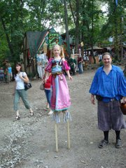 Claire Gurley made her debut on stilts at the Kansas City Renaissance Festival when she was 7 and a half.