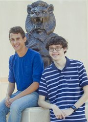 Lawrence High school National Merit Scholarship semifinalists from left are Ian Hierl and Drewrey Bryant.