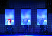 The Blue Men characters in the Blue Man Group, according to Blue Man Russell Rink, are part child, part animal and part superhero.