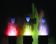 The Blue Man Group will perform their brand of experimental music, comedy and art at the Lied Center, 1600 Stewart Drive, at 7:30 p.m. Monday and Tuesday.