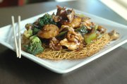 Bird's Nest Noodles at Encore Café, 1007 Massachusetts St.