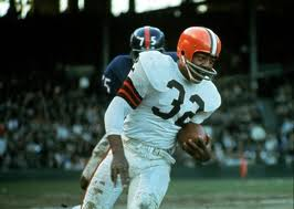 Former Cleveland Browns great Jim Brown.