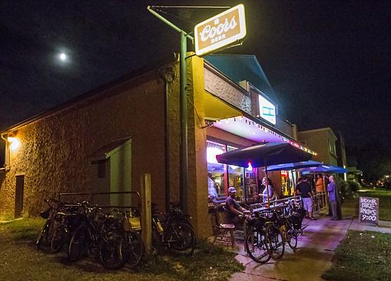 Exterior of Frank's North Star Tavern, 508 Locus Street.