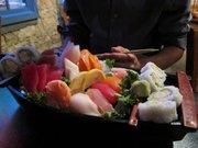 The sushi sashimi boat at Yokohama has a little bit of everything. Find Yokohama Sushi at 811 New Hampshire St., 785-856-8862, yokohamasushioflawrence.com.