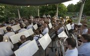 The Lawrence City Bands performs in the historic William Kelly Bandstand gazebo in South Park Wednesday, July 17, 2013.
