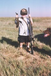 Ben Heeney on a hunting trip as a 5-year-old