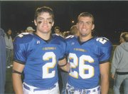 Ben Heeney (2) as a Hutchinson High sophomore with big brother Ty