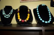 Necklaces are pictured at Prairie Pond, at 11 W. Ninth St., priced, from left, $240, $245 and $69.95.