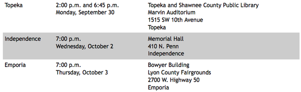 Schedule of meetings on ACA next week