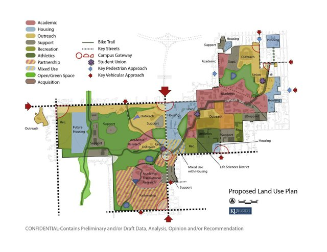 Photo: A schematic from KU\'s most recent master plan shows ...