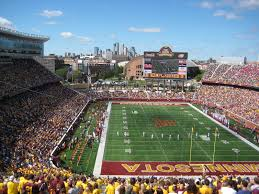 This is TCF Stadium in Minnesota.  They have a horseshoe design with 15 rows in the open end to close the bowl while keeping an amazing view of downtown Minneapolis.  KU can do the same.