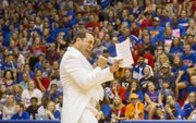 Comedian Rob Riggle hosts Late Night in the Phog Friday, Oct. 4, 2013, at Allen Fieldhouse.