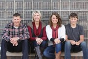 The Lancaster family — Trent, Jody, Maddy, 17, and Cooper, 14.