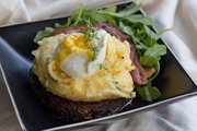 Polenta Portobello Mushroom Stacks with Eggs and Bacon