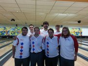 Kansas University's varsity bowling team.