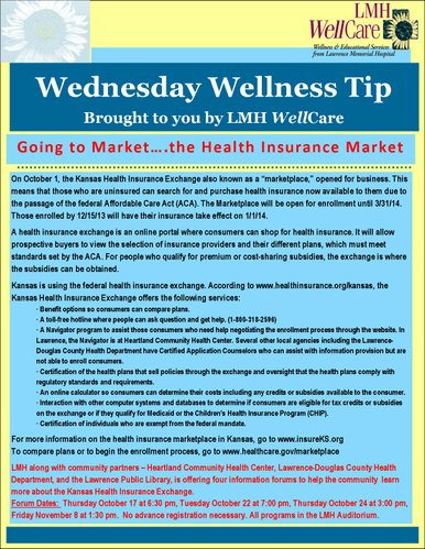 Going to Market...the Health Insurance Market flier to print and share