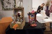 Two altars on display Saturday at the Lawrence Percolator 913 Rhode Island St.