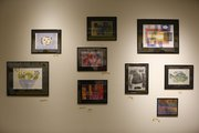 Artwork created by Cottonwood Inc. Retirement Enrichment Services program participants is displayed in the lower level gallery at the Lawrence Arts Center.