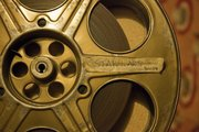"In this close-up, a film trailer for ""Star Wars"" sits tightly in its reel."
