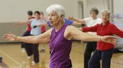 Parks and Recreation instructor Nicki Listerman leads a Dance Aerobics class Friday at the Holcom Park Recreation Center.