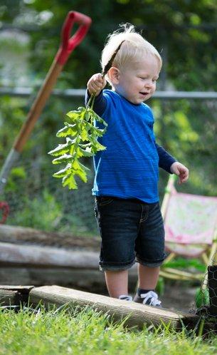 Happy gardener!