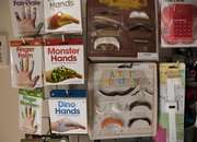 Cindy's Simple Life carries fun, novelty items like hand decorations and mustaches.
