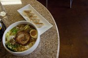 The Hokkaido Tonkotsu Miso Ramen and gyoza at Ramen Bowls in downtown Lawrence are hot sellers.