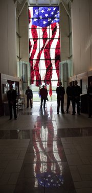 Friday November 8, 2013 was the 238th Birthday Commemoration of the United States Marine Corps. Veterans along with visitors watched the ceremony at the Robert J. Dole Institute of Politics.