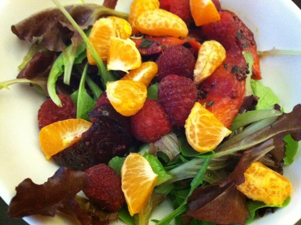 Fruit on salad was a big hit this CSA season.