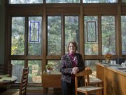 Karen Doue is manager and owner of the Halcyon House Bed and Breakfast, 1000 Ohio St. The large, two-story open kitchen and dining area is a centerpiece and important gathering spot for residents.