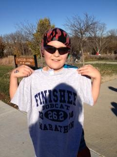 Ran with a smile the whole way! Nice, Caleb!