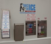 A new ice machine at 23rd and Louisiana in Lawrence will dispense filtered water and ice.