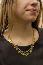 14k gold alphabet necklace