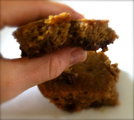 There's a chocolate surprise at the bottom of these cake-like pumpkin pie bars.
