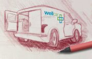 Concept design of the WellCar, by Kansas University senior David Blizzard.