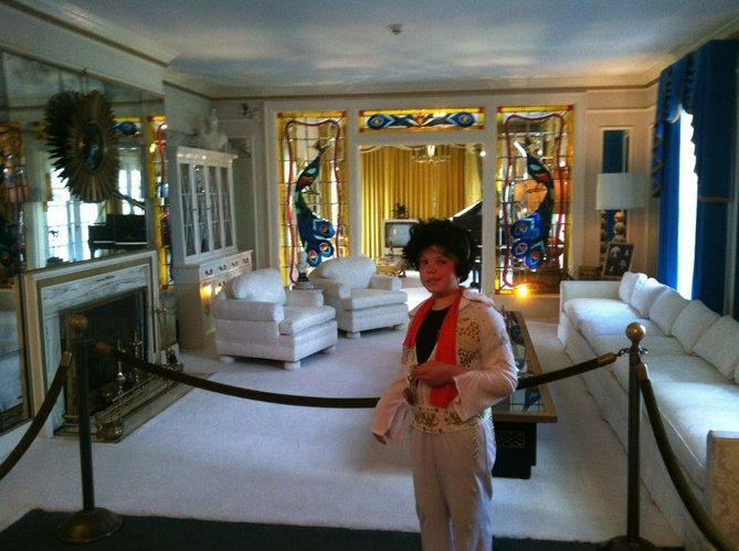 Gibson Huston as Elvis at Graceland.
