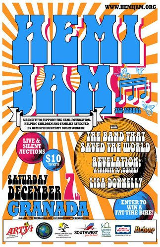 The 3rd Annual Hemi Jam is December 7th at The Granada