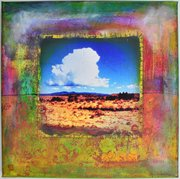 "Pictured is ""The Road and the Sky"" by Lawrence artist Traci Bunkers. Bunkers' work will be for sale at Downtown Upstairs, 824 1/2 Massachusetts St. during this month's Final Friday and from 11 a.m. to 3 p.m. Saturday"