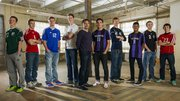 The 2013 Boys All-Area Soccer team, from left, Dustin Seibolt, De Soto, Asher Huseman, Tonganoxie, Austin Johanning, Perry-Lecompton, Chris Allen, Free State, coach Mark Joslyn Baldwin, Nicholas Joslyn, Baldwin, Eric Williams, De Soto, Russell Cloon, Baldwin, Connor Henrichs, Lawrence, Brandon Church, Ottawa.