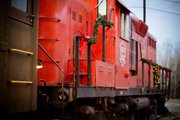 All aboard. The Santa Claus Express runs out of the Santa Fe Depot in Baldwin City, and the ride includes holiday treats, stories, singers and, of course, a visit from Mr. and Mrs. Claus.
