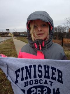 Emma does a Turkey Trot to bring in a 26.2!