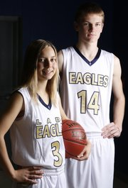 Veritas Christian Academy players Hannah Gloss, senior and Micah Edmondson, junior, are pictured Wednesday, Dec. 4, 2013.