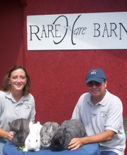 Callene and Eric Rapp of the Rare Harn Barn in Leon, Kan.