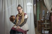 Laura Martin-Eagle practices Ayurveda restorative therapies, ancient Indian therapies that find imbalances in the body. Martin-Eagle, shown in her studio, with a hanging metal pot used for the Shirodhara practice.