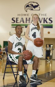 This season's Bishop Seabury Academy basketball teams will feature seniors Marcus Allen and Mariah Smith.