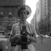"This undated photograph shows an untitled self portrait of Vivian Maier. The book ""Vivian Maier: Self-Portraits"" would make a good gift for any shutterbug."